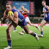 Josh Walker lunges for a mark.