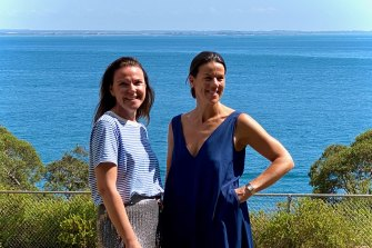Jane Hayman and Luisa Bosci, who together devised the Quarantine Art Fair in Portsea.