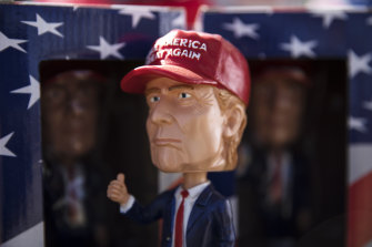 A bobblehead figurine in the likeness of US President Donald Trump in Texas last year.