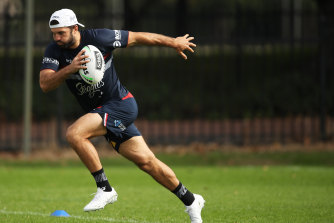 James Tedesco, rugby league's best player, is ready for take-off.