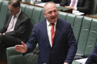 Deputy Prime Minister Barnaby Joyce during question time on Tuesday.