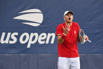 Brayden Schnur, pictured at the US Open, has slammed the big names for not speaking up as the little guys suffer.