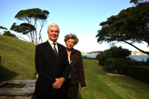 Major General Michael Jeffery with wife Marlena in 2008. He said ''until we understand the continent as a totality, we'll just get deeper into the mess''.
