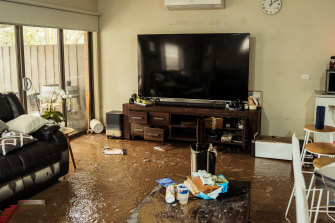 The damage to Tanya Lynch's home.