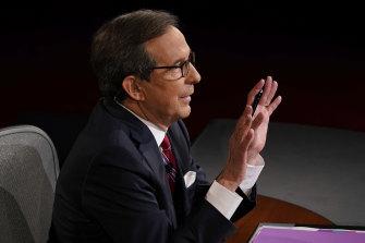 Presidential debate moderator Chris Wallace of Fox News.