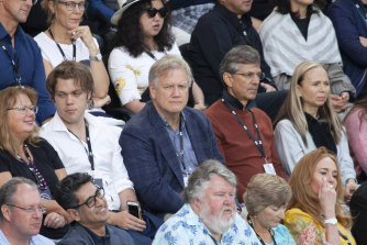 Andrew Bolt at the men's final of the Australian Open tennis competition in February.
