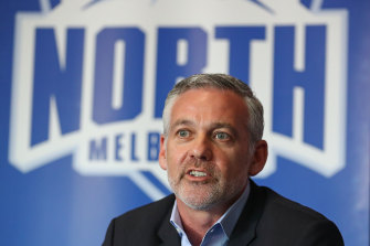 North Melbourne chairman Ben Buckley.
