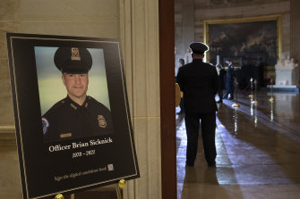 US Capitol Police officer Brian Sicknick died after being attacked during the Capitol riots.