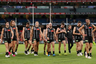 The Magpies have slumped to 1-5 after losing to Essendon on Anzac Day.