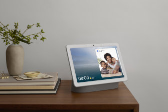Smart displays, like the Nest Hub Max, are smart speakers and digital picture frames combined.