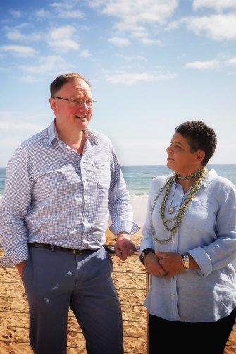 Lee with Roger Jaensch, Tasmania's current Aboriginal Affairs minister.