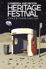 Is the route direct though? Trevor Dickinson puts a bus shelter on the moon for 2019 Heritage Festival.