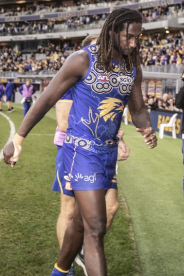 West Coast ruckman Nic Naitanui has done two ACLs in the past three seasons.