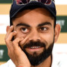 Mitchell Johnson gives Kohli a whack