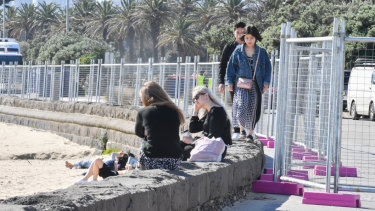 Fencing has blocked off access to parts of St Kilda beach for a fortnight.