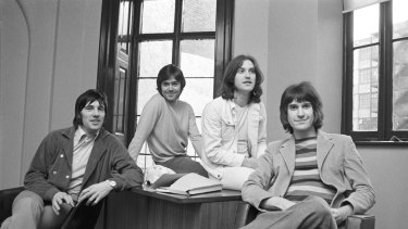 The Kinks in 1969. From left, Mick Avory, John Dalton, Dave and Ray Davies.