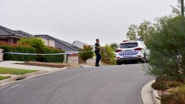 The crime scene in Canadian, Ballarat.