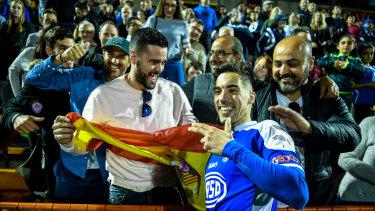 Spanish star Alex Sanchez scored twice in the Olympic triumph on Sunday.