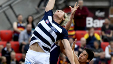 Mark Blicavs in action during AFLX