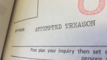 Christopher Lewis' police file reveals he was facing a charge of attempted treason.