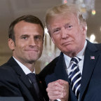US President Donald Trump and French President Emmanuel Macron at the White House last week.