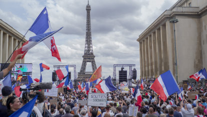 Protests against COVID measures escalate in France, Italy, Britain, Greece