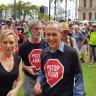 Bob Brown dismisses reports of cold shoulder in regional Queensland