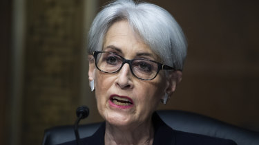 """US Deputy Secretary of State Wendy Sherman said the US was engaged in a period of """"stiff competition"""" with China."""
