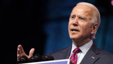 Joe Biden will be sworn in as president in January.