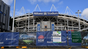 Out of time: Bulldozers are closing in on Allianz Stadium.