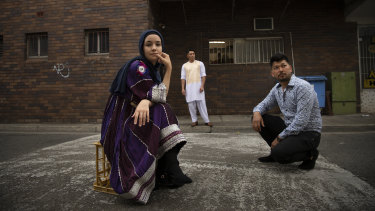 PYT Fairfield performers (from left)  Bibi Goul Mossavi, Jawad Yaqoubi and Mahdi Mohammadi.