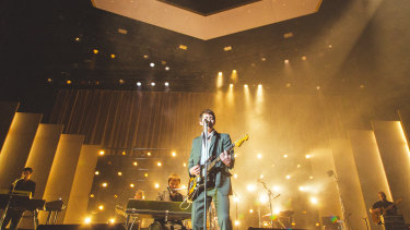 Alex Turner fronts the Arctic Monkeys at Rod Laver Arena.