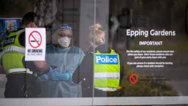 Epping Gardens Aged Care Facility in Epping on Wednesday.
