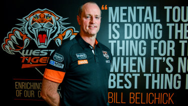 Mental toughness: Michael Maguire has started to change his ways at the Wests Tigers.