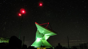 "The Large Millimetre Telescope in Puebla, Mexico, part of the Event Horizon Telescope which was used to ""see"" the Messier 87 black hole in the constellation of Virgo."