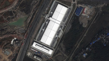 A satellite image provided by CNES and Airbus shows the Apple data center in Guiyang, China. Apple planned to store the personal data of its Chinese customers there on computer servers run by a state-owned Chinese firm.