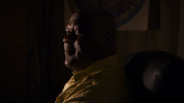 Felix Tshisekedi, leader of the Union for Democracy and Social Progress Party and presidential candidate, in Kinshasa.