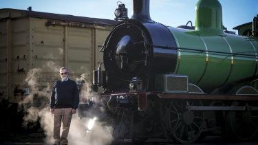 Joe Kellett runs heritage rail group Steamrail Victoria in Newport.