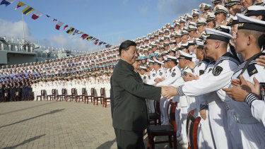 President Xi Jinping commissioned China's first entirely home-built aircraft carrier in December, underscoring the country's rise as a regional naval power at a time of tensions with Taiwan and in the South China Sea.