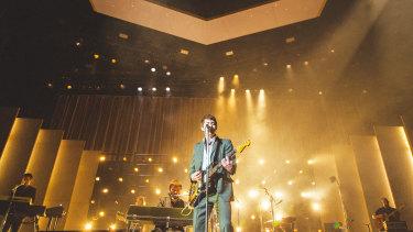 Alex Turner fronts the Arctic Monkeys on their Australian tour.