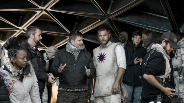 Travis Fimmel on the set of the series.