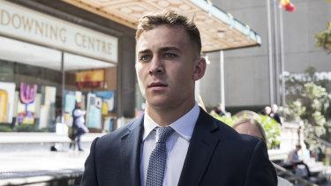 Callan Sinclair outside court this week.