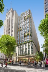 An artist's impression of how the refurbished Commonwealth Bank Building would appear from the street.