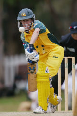 Clark bats in her final year in international cricket, against New Zealand in 2005.