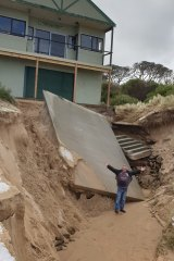 Wild weather has destroyed the Wonthaggi Life Saving Club at Cape Paterson