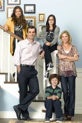 Phil (Ty Burrell), Claire (Julie Bowen) and kids Haley (Sarah Hyland), Alex (Ariel Winter) and Luke (Nolan Gould).