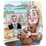 Long-distance relationship: Melissa Babbage and Joe Hockey.