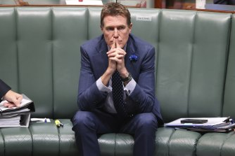 Industry Minister Christian Porter has faced intense criticism for accepting an undisclosed sum of money through a blind trust.