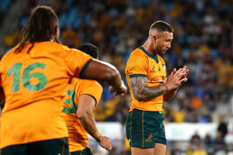 Quade Cooper played arguably his best Test on Sunday.