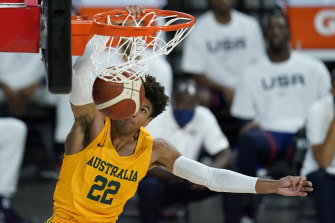 The Boomers made it two big wins on the hop with a 39-point demolition of Nigeria.